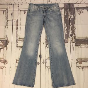 Mavi Marie Distressed Low Rise Jeans Sz 28